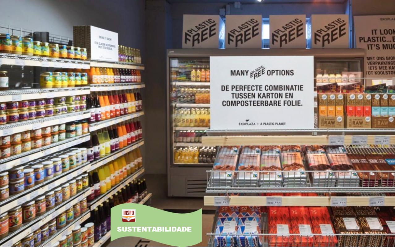 Corredor de supermercado: alimentos sem plástico?