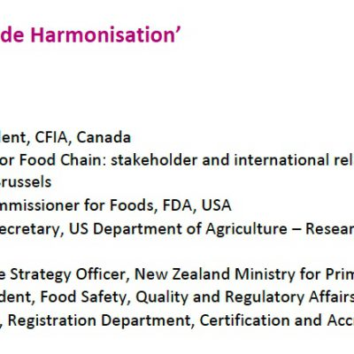 Global Food Safety Trade Harmonization – primeira parte